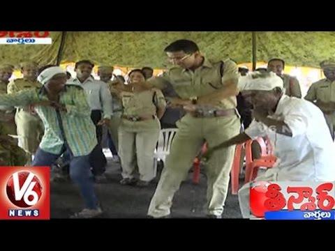 Adilabad SP Vikram Jeet Duggal Performs Dance With Villagers | Teenmaar News | V6 News
