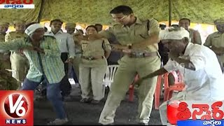 Download Adilabad SP Vikram Jeet Duggal Performs Dance with Villagers | Teenmaar News | V6 News Mp3 and Videos