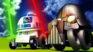 Поезд Трой - Спецвыпуск Звёздные Войны - Бой на световых мечах - детский мультфильм