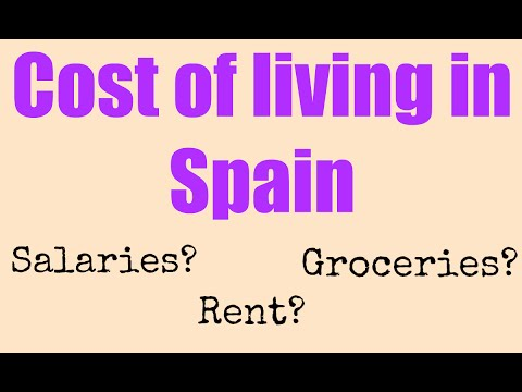 Living in Spain - Cost of living in Spain