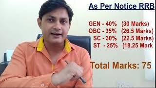रेलवे भर्ती  में सीट बढ़ने पर कटऑफ   Railway Group D & ALP Cutoff and safe Score Marks for 60000 post