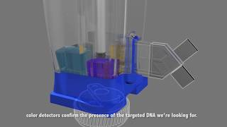 Reise ins Innere der Cepheid GeneXpert® Cartridge - 3D-Animation