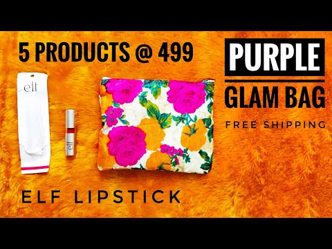 *New* Purple Glam Bag @ 499 | Free shipping | With ELF lipstick | Unboxing and Review