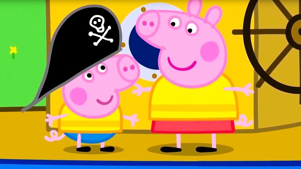 Свинка Пеппа на Pусском   Пеппа и Джордж - моряки!   Мультики