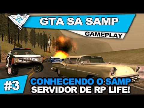 GTA SA SAMP LIFE COOP #3 - CONHECENDO O SAMP E SERVIDOR DE RP LIFE! / PT-BR