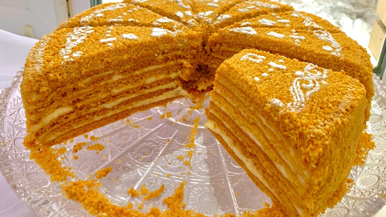 Boyuk bal tortu cox yumsag. Медовый торт мягкий как пух