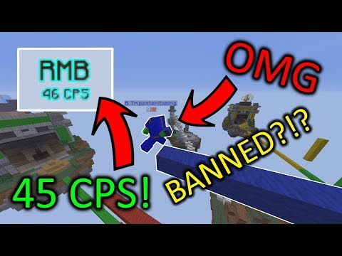 BREEZLY BRIDGING WITH 45+ CPS AUTO CLICKER! *BANNED* Hypixel BedWars