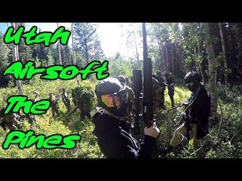 Utah Outdoor Airsoft Gameplay at The Pines #1 - Bush Wookies