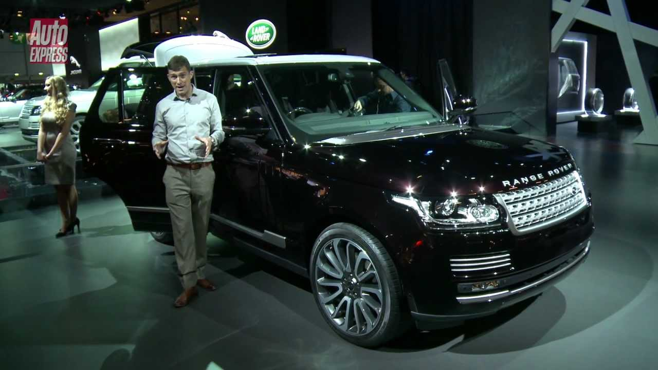 new range rover at the paris motor show auto express youtube. Black Bedroom Furniture Sets. Home Design Ideas