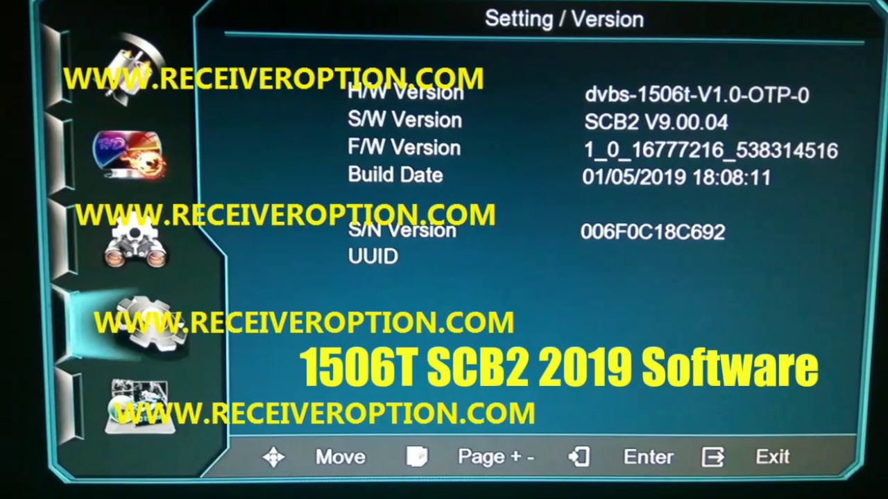HW 1506T SCB 2 2019 Software For Dish Receivers