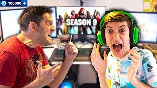 Kid Spends £3000 in Fortnite Season 9 on Mad Dad's Credit Card!!