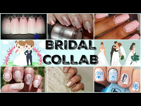 Stamping Nail Art Tutorial | Bridal Manicure | Facebook Collab ✓ thumbnail