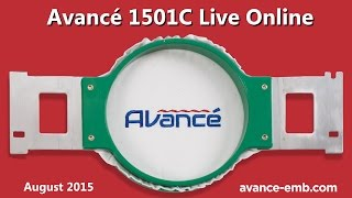 Avance Commercial Embroidery Machine Live Online August 2015
