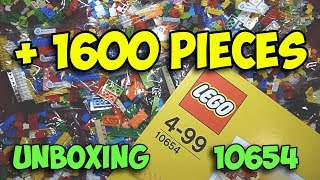 More than 1600 LEGO pieces - Unboxing LEGO Classic 10654 Creative Bricks Box - TOY UNBOXING