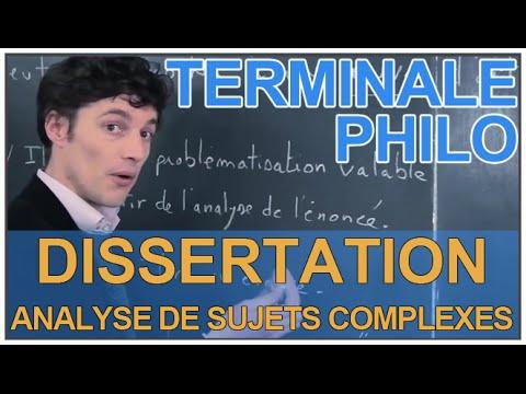 Dissertation analyse sujet