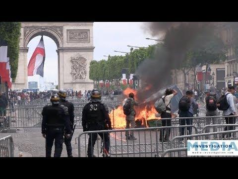 Des Gilets Jaunes invisibles envahissent les Champs-Elysées - 14 juillet 2019