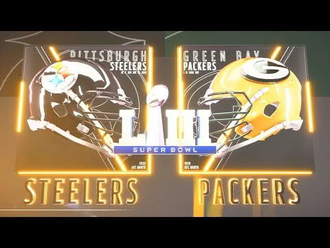 Madden NFL 19 - Pittsburgh Steelers Vs Green Bay Packers SuperBowl XLV Rematch Simulation