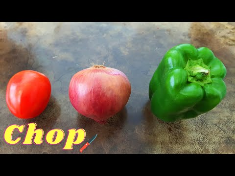 ❤ CUTTING SKILL NINJA - How To Cut Onions 🔴 Tomatoes, Bell Peppers | Indian Street Food
