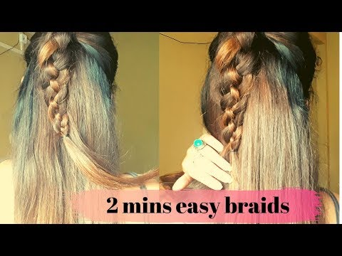 2-mins-easy-braids-tutorial- -cute-back-variation- -girls-hairstyle
