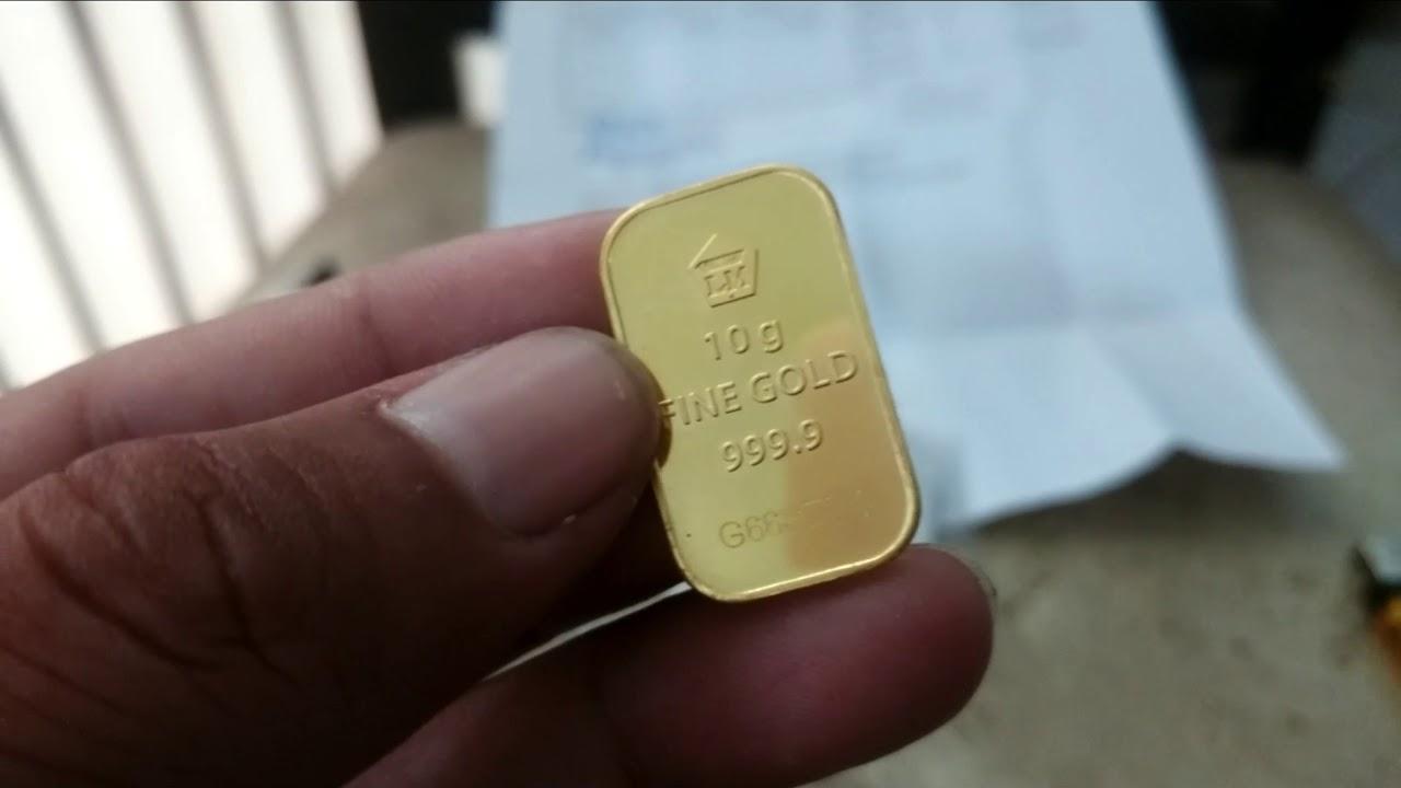 Emas 10 gram antam, beli di pegadaian - YouTube