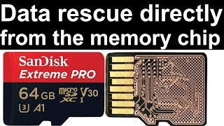 Micro SD corrupt - fix card, data recovery directly from the memory chip - wants to be formatted