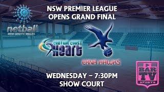 2018 Netball NSW Open grade Grand Final - Show Court - Central Coast Heart v ERNA Hawks