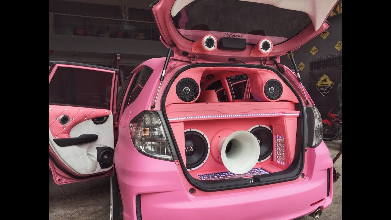 modifikasi audio mobil sound quality loud honda jazz ge8 by cliport bandung