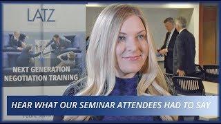 Latz Negotiation Seminar Reviews