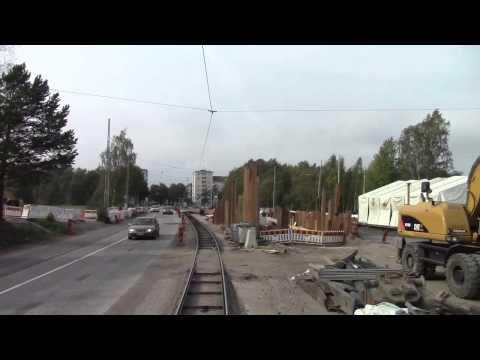 Helsinki Tramways Route 4 Saunalahdenti to Töölön halli