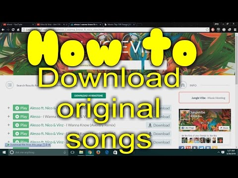 How to download Original songs For FREE.