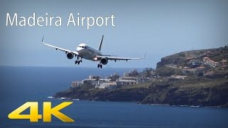 [4K] Pilots struggling with crosswinds | Madeira Airport | 05.04.2016