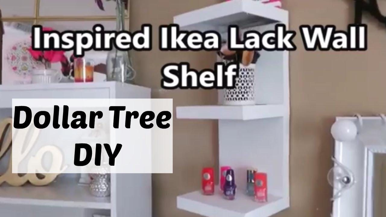 Dollar Tree Diy Ikea Inspired Wall Shelf Youtube