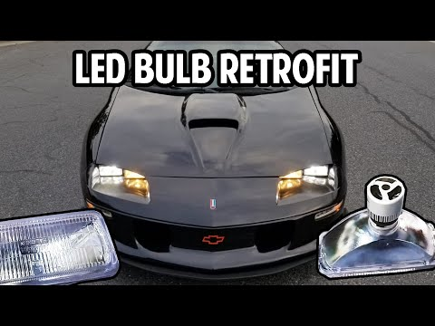 Swapping 9006 Type LED Bulbs In 93-97 Camaro STOCK Sealed Beam Retrofit