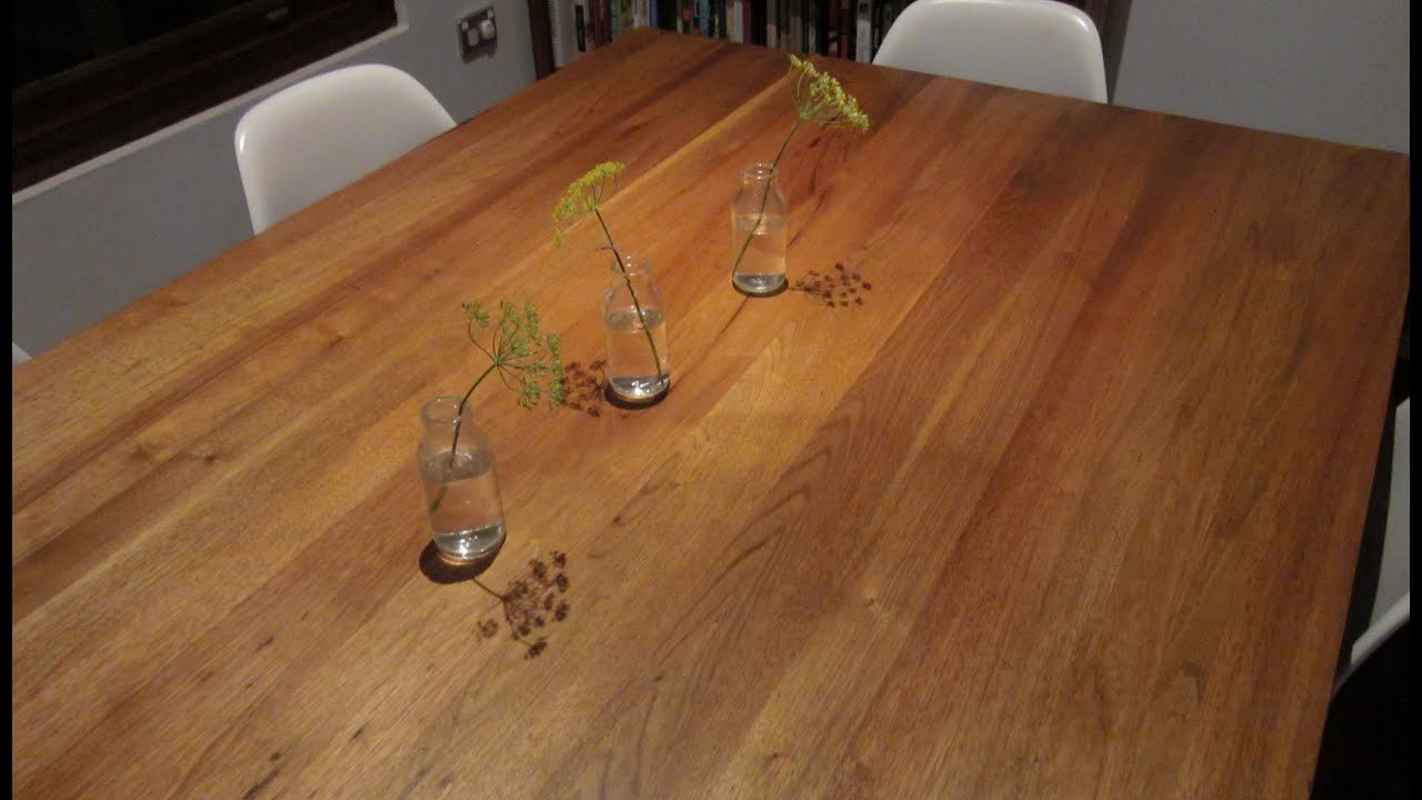 How To Prepare And Wax A Timber Dining Table Using Bees