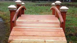 Landscape Bridges Garden Bridges For Landscaped Yards Www.redwoodgardenbridges.com