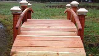 Landscape Bridges Garden Bridges For Landscaped Yards Www.redwoodgardenbridges.com