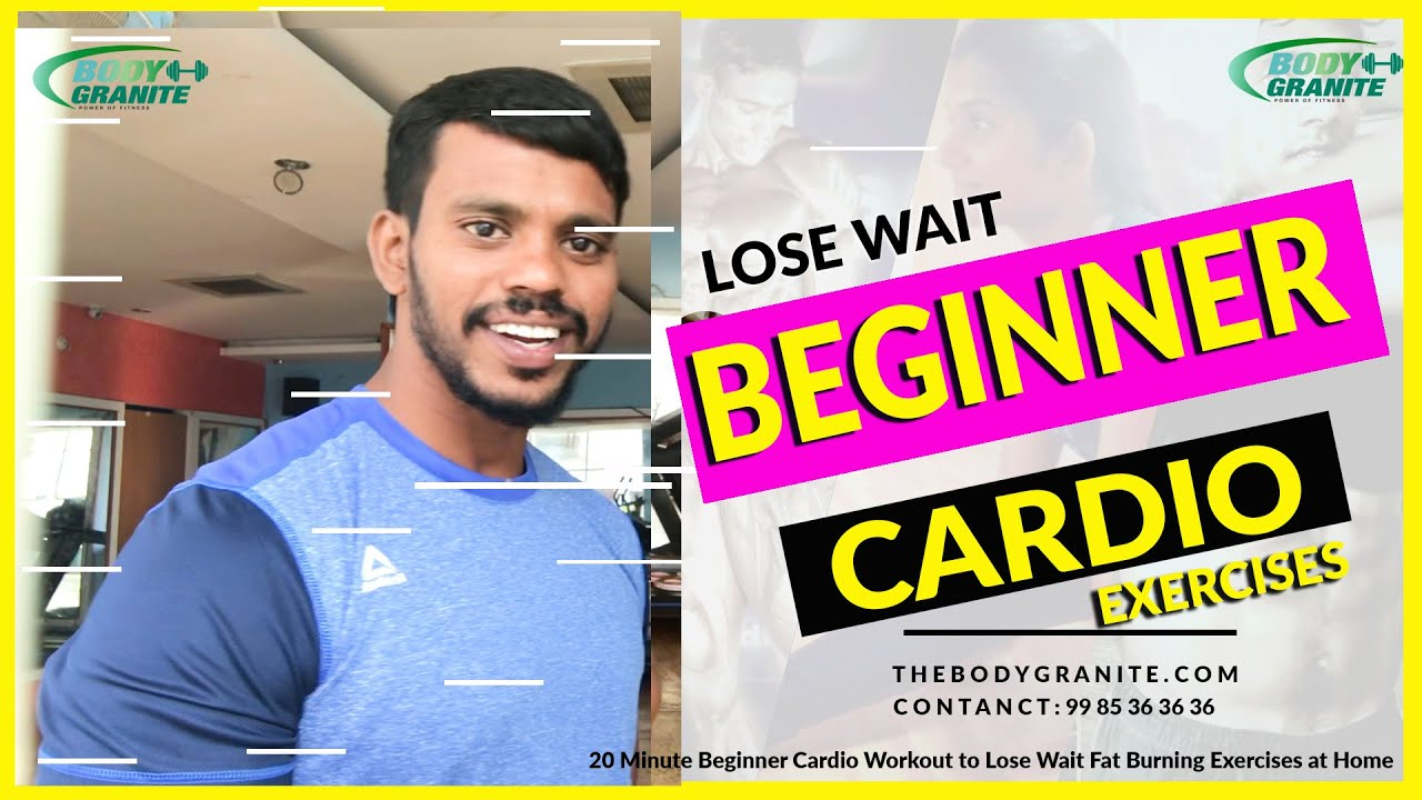 20 Minute Beginner Cardio Workout to Lose Wait Fat Burning Exercises at Home