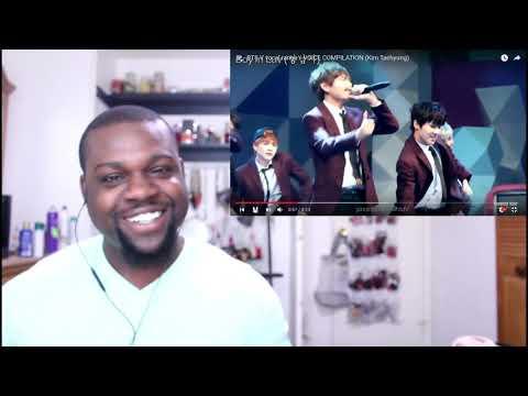 BTS V vocal range VOICE COMPILATION Kim Taehyung Reaction