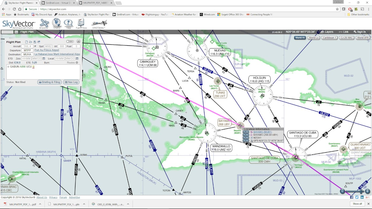 Skyvector flight vfr planning - Simple Flight Planning With Skyvector And Simbrief