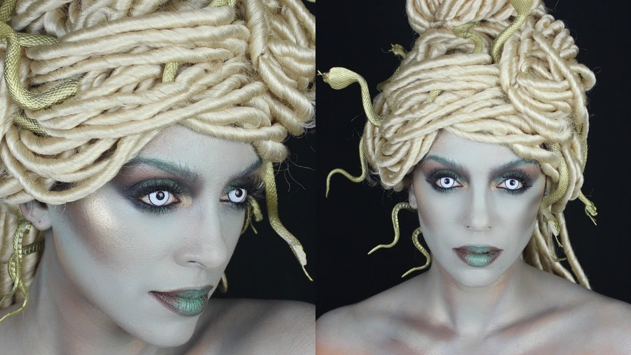 HOW TO: MODERN MEDUSA HAIR & MAKEUP | HALLOWEEN TUTORIAL - YouTube