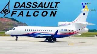 ramp view dassault falcon 7x argyle international airport