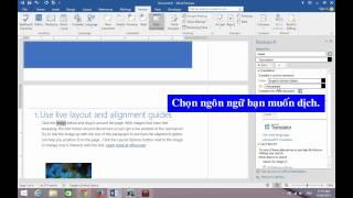 Word 2016 - Hướng Dẫn Chức Năng Dịch Thuật Để Dịch Nhanh Câu Văn, Đoạn Văn