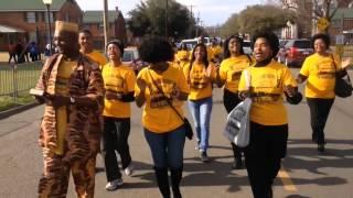 Memphis Singing While Walking To Bridge In Selma
