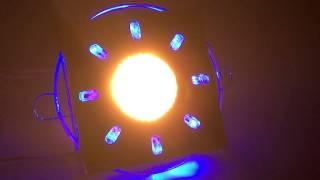 1051 хром / синяя подсветка (CH/BL/Led) Elektrostandard, обзор точечного светильника.