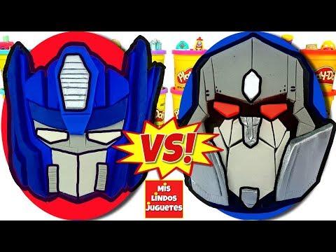 Huevos Sorpresa Gigantes de Transformers Autobots VS Decepti