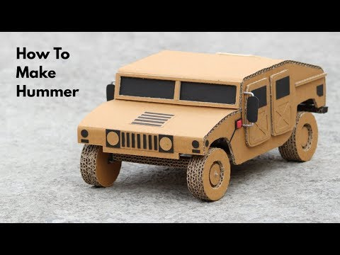 How To Make RC Hummer Car From Cardboard