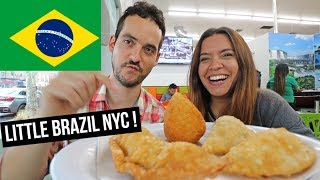NYC Food Tour- LARGEST Little Brazil in Astoria, Queens ! 🇧🇷