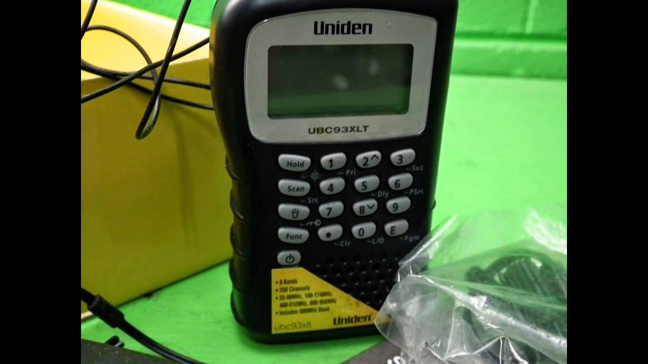39989 uniden ubc93xlt 200ch handheld scanner in box 240v charger rh youtube com Uniden Scanner Programming uniden scanner ubc92xlt instructions