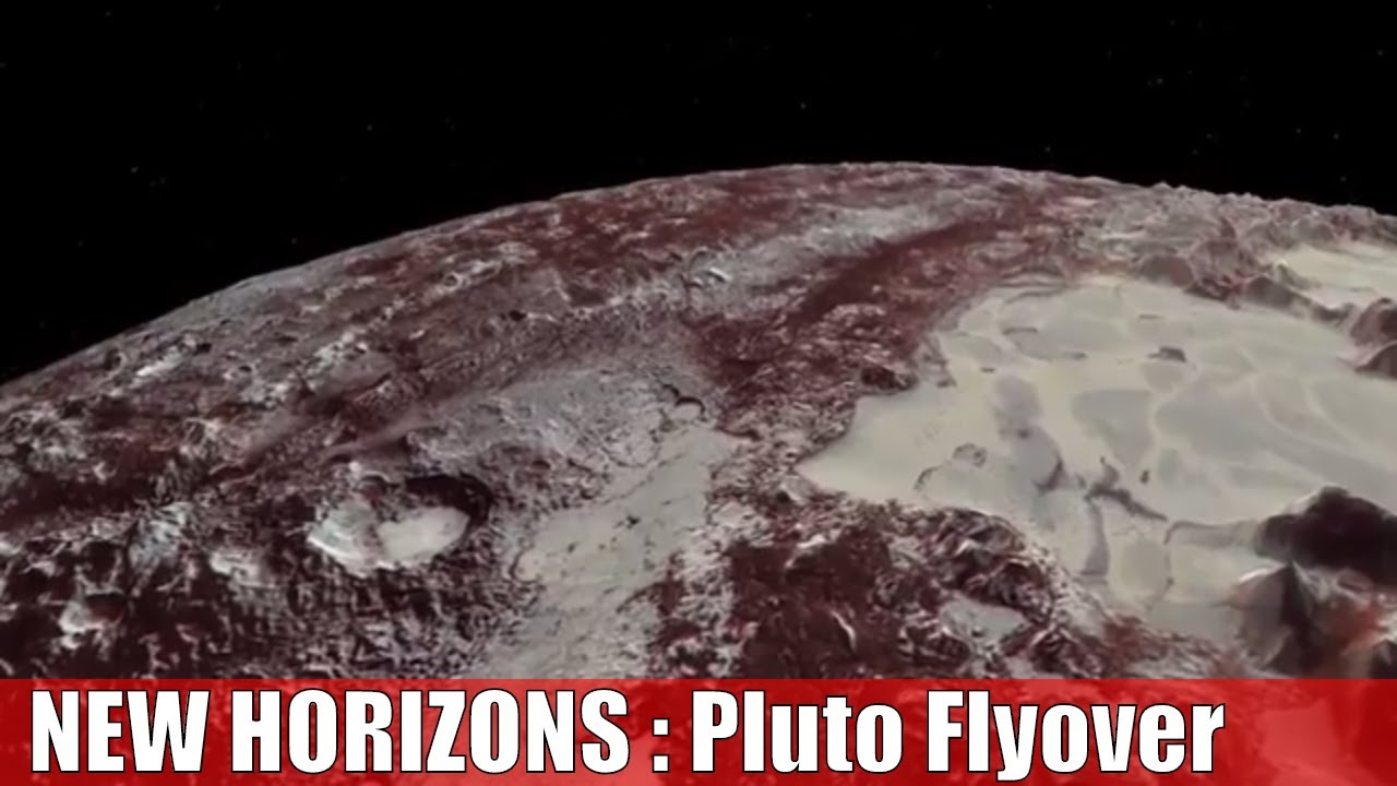 New Horizons Flyover of Pluto : Nasa new view of Pluto