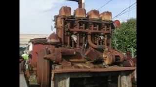 BIG MINNEAPOLIS MOLINE 4 CYLINDER PUMPING ENGINE, BARN FRESH